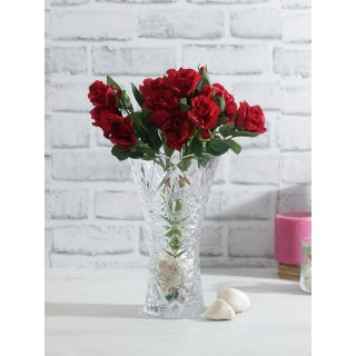 Bunch of 2 Red Artificial Rose Sticks(FL20387RE)