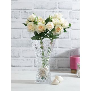 Bunch of 2 White Artificial Rose Sticks(FL20387WH)