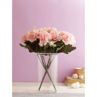 Pristine bunch of Real alike Carnation Flowers -Pink-Set of 3(FL2088PI)