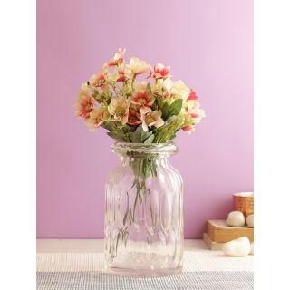 Lovable Bunch of Chrysanthemum Flowers-Peach-Set of 4(FL2089PE)