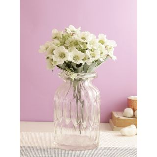 Lovable Bunch of Flowers-White-Set of 4(FL2089WH)