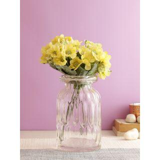Lovable Bunch of Chrysanthemum Flowers-Yellow-Set of 4(FL2089YE)