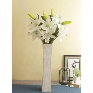 Natures wonder set of Tiger Orchid  Flowers-White-Set of 2(FL209408WH)