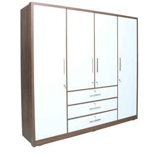 High gloss 4 door wardrobe