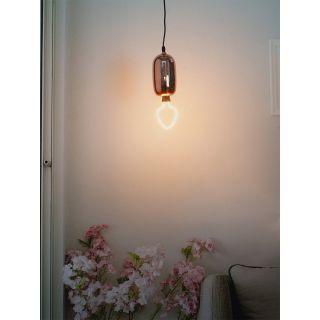 Fos Lighting Modern Rose Gold Glass Capsule Pendant Light