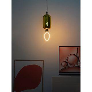 Fos Lighting Modern Golden Glass Capsule Pendant Light