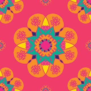 Diwali Highlights on Canvas Square Mandala (4 X 4 inch, Set of 2)