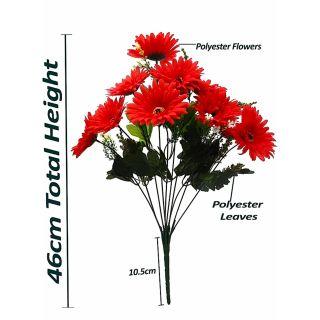 Artificial Red Color Zerbera Flower Bunch (110)