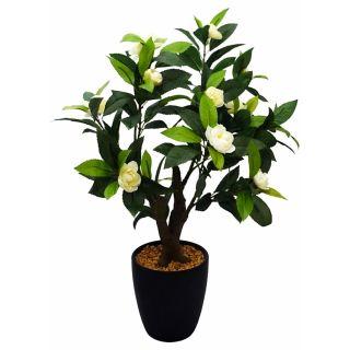 Artificial White Color Camelia Rose Bonsai Tree (107)