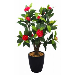 Artificial Red Color Camelia Rose Bonsai Tree (107)