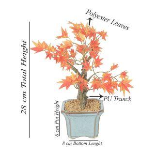 Artificial Orange Color Maple Bonsai Tree (108)