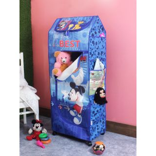 Disney Micky Mouse and Friends Be the Best Blue Color Kids Poratble Wardrobe(KDW 02)