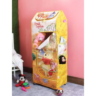 Disney Winnie The Pooh Friends Together Yellow Color Color Kids Poratble Wardrobe(KDW 04)