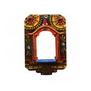 eCraftIndia Wall Hanging Kundan Mandir(Temple) (KOM503)