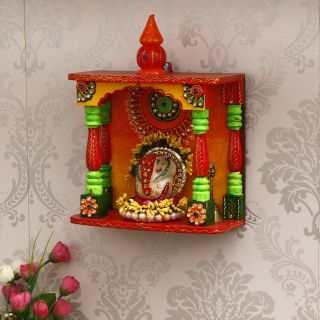 eCraftIndia Papier Mache and Wooden Handcrafted Temple (KOM505)
