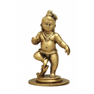 Krishna Kaliya - Brass Antique