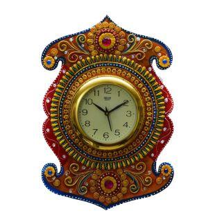 eCraftIndia Kundan Studded Wall Clock (KWC501)