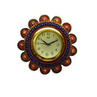 eCraftIndia Papier-Mache Round Wall Clock (KWC504)