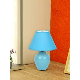 Urban Taste Turquoise Glazed Ceramic Table Lamp(LAM18106BLUE)