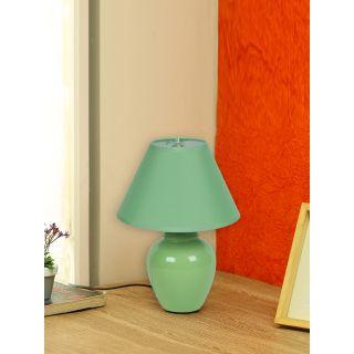 Urban Taste Turquoise Glazed Ceramic Table Lamp(LAM18106GR)