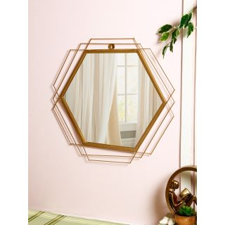 Artisans Choice Handcrafted Golden Frame with Mirror