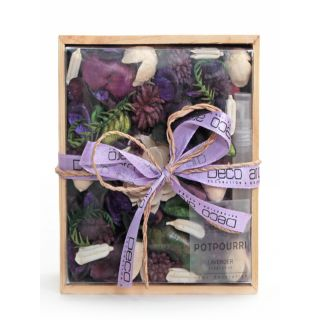 Potpourri in Wooden Box Lavender Fragrance