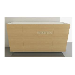 Phoebe Veneer 4-Doors Low Cabinet