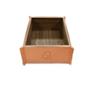 Pink Orange Hard Leather Tissue Box