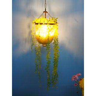 Fos Lighting Planter Glass Jar Hanging Pendant Light