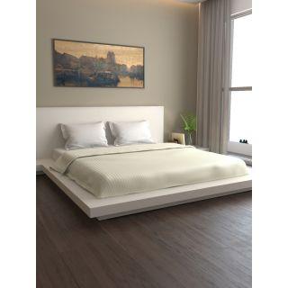 Mark Home Premium Stripes Duvet Cover Double White