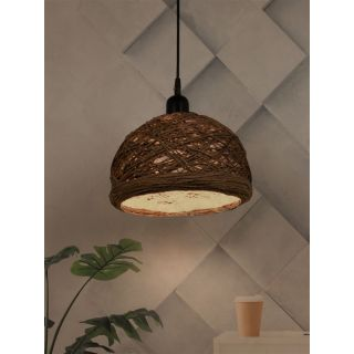 Fos Lighting Brown 12 Inches String Bowl Pendant Lamp