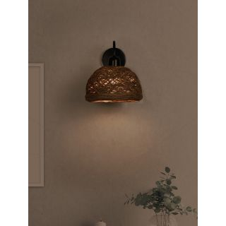 Fos Lighting Brown String Bowl Wall Sconce