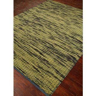 Jaipur Rugs Modern Wasabi Liquorice 4X6 Feet Wool Abstract Area Rug