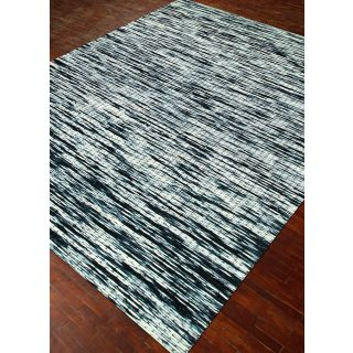 Jaipur Rugs Modern Ebony White 5X8 Feet Wool Abstract Area Rug