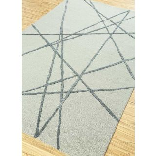 Jaipur Rugs Modern Classic Gray Stone Gray 5X8 Feet Wool Viscose Geometric Area Rug
