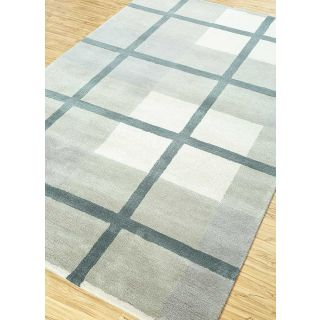 Jaipur Rugs Modern Classic Gray London Fog 5X8 Feet Wool Viscose Geometric Area Rug