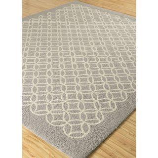 Jaipur Rugs Modern Nickel White 5'6X6'6 Feet Wool Geometric Area Rug