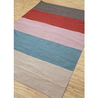 Jaipur Rugs Modern Liquorice Saffron 6'2X9'2 Feet Polyester Stripes Area Rug