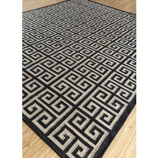Jaipur Rugs Modern White Ebony 8X10 Feet Wool Geometric Area Rug