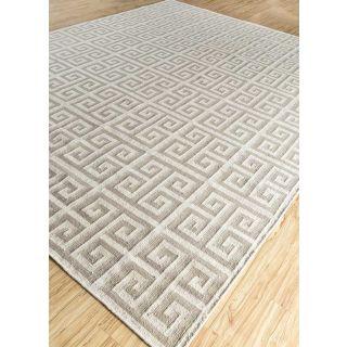 Jaipur Rugs Modern Antique White Gray 5X8 Feet Wool Geometric Area Rug