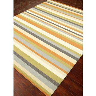 Jaipur Rugs Modern Soft Gold 5X8 Feet Wool Stripes Area Rug