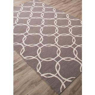 Jaipur Rugs Modern Liquorice White 8X10 Feet Wool Geometric Area Rug