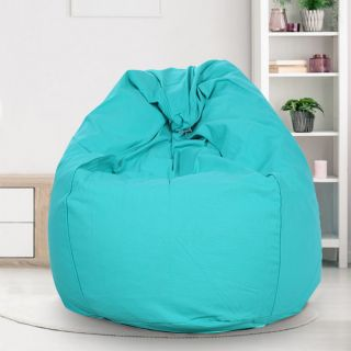 Reme Turquise 100% Organic Cotton XXL Bean Bag Cover with Beans (REFH_102-With Beans)