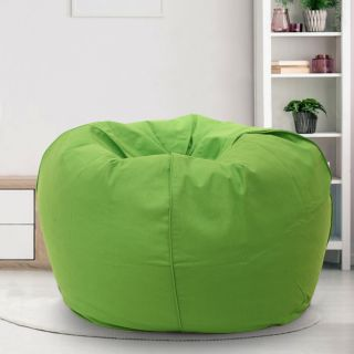 Reme Green 100% Organic Cotton XXL Bean Bag Cover with Beans (REFH_106-With Beans)