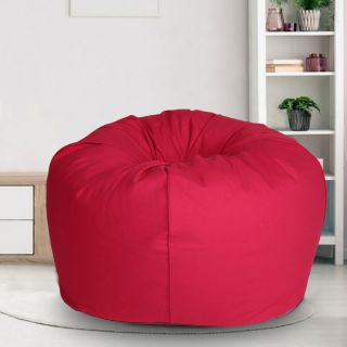 Reme Red 100% Organic Cotton XXL Bean Bag Cover with Beans (REFH_107-With Beans)