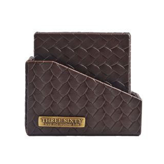 COASTER IN Faux Leather SET OF 6 (Brown)