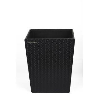 ENTWINE WASTE BIN IN Faux Leather (Black)