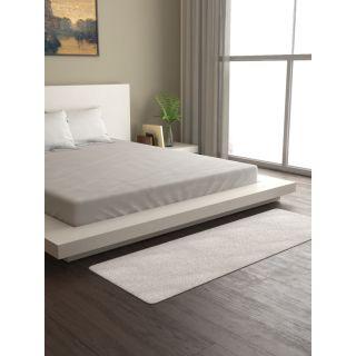 Mark Home Polyester Anti Skid Durable Softness Plush Lustrous Rugs 50cm x 150cm White