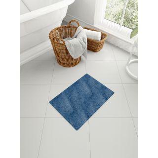 Mark Home Polyester Anti Skid Durable Softness Plush Lustrous Rugs 40cm x 60cm Navy