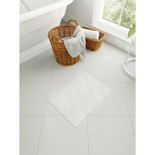 Mark Home Polyester Anti Skid Durable Softness Plush Lustrous Rugs 40cm x 60cm White